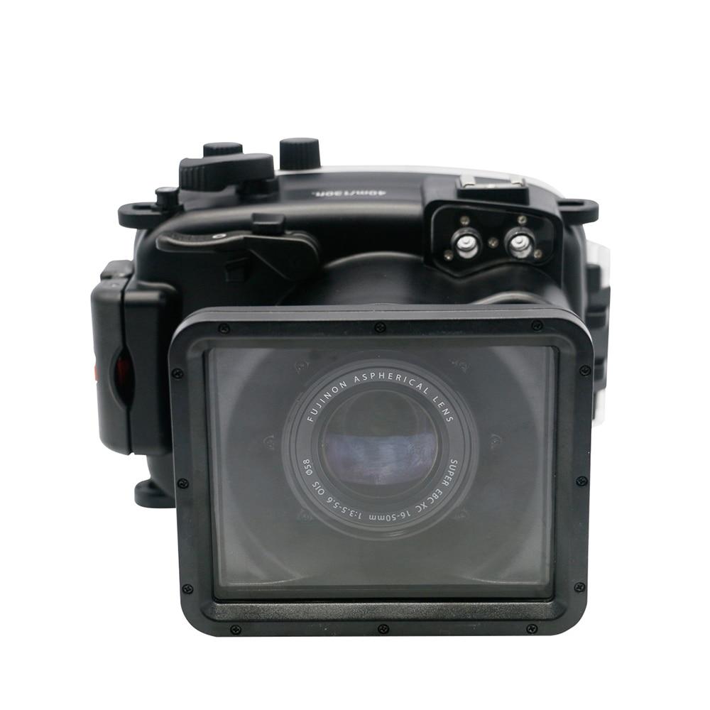 Para Fujifilm X-A1 Camra carcasa subacuática impermeable de buceo 40m fotografía cámara de deportes acuáticos + gafas de buceo