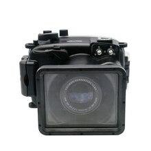 Para fujifilm X-A1 camra subaquática habitação caso à prova dwaterproof água mergulho 40m fotografia água esporte câmera capa + óculos de mergulho