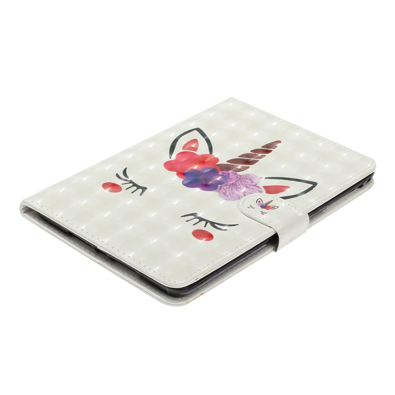 Купить с кэшбэком Wekays For Samsung Tab A 8.0 SM-T380 Cartoon Unicorn Leather Fundas Case For Samsung Galaxy Tab A 8.0 2017 T380 T385 Cover Cases