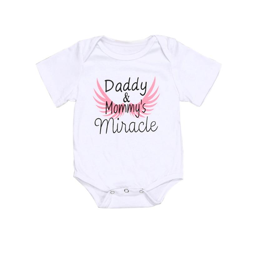 Mono con estampado de alas de letras para recién nacidos y bebés, pantalón corto con manga para recién nacidos de 0 a 18 meses A20