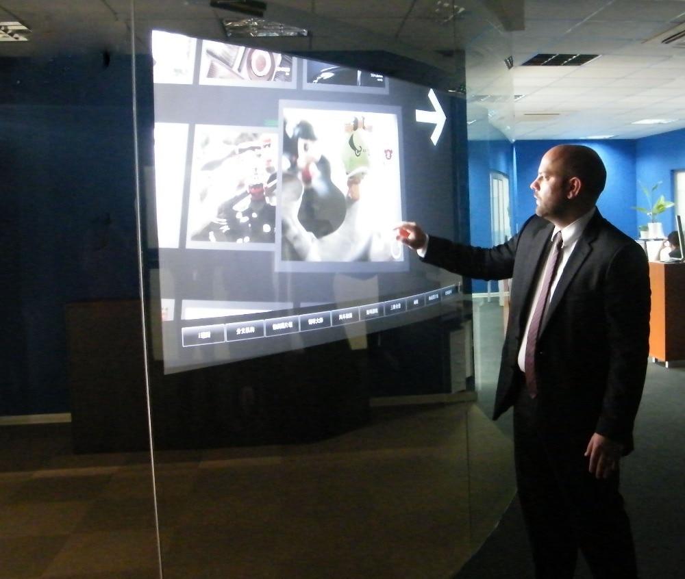 رقائق شاشة تعمل باللمس تفاعلية ، فيلم تراكب شاشة تعمل باللمس مقاس 46 بوصة ، 10 نقاط