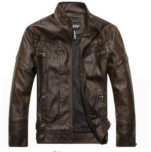 2019 New arrive brand motorcycle leather jackets  jaqueta de couro masculina,mens jackets,men coats