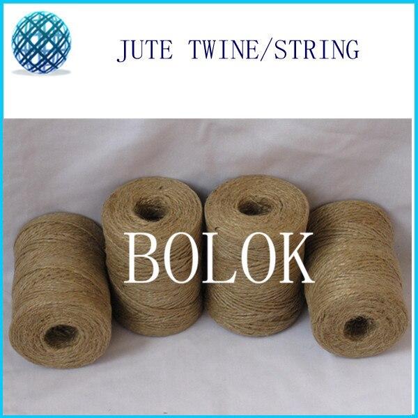 free shipping 18pcs/lot Natural jute rope 2 ply twisted (Dia.: 1.5mm 110yards/spool)DIY jute string,natural fibre cords