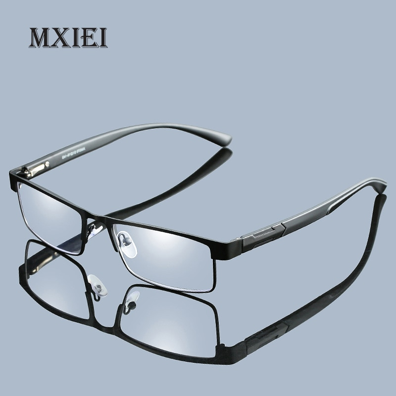 Negocios Casual Full Metal lente de resina de Marco grande femenino masculino gafas de lectura mujeres hombres Unisex Eyewear + 1,0 1,5 2 2,5 3 3,5 4
