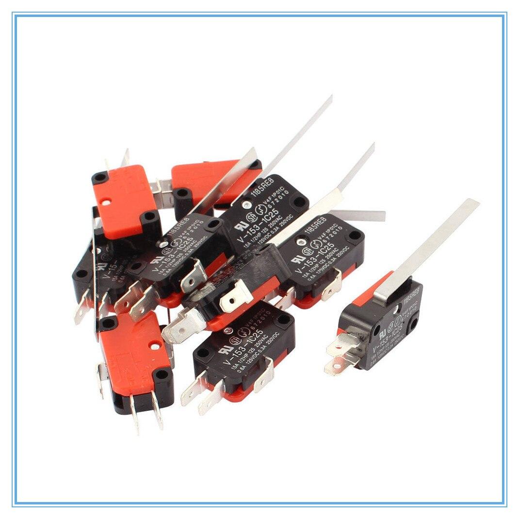 10 Uds 27x16x10mm SPDT Interruptor de Límite Micro 3 terminales momentáneas V-153-1C25