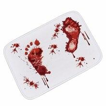 Tapis de bain faire peur à vos amis sanglante empreinte tapis de bain antidérapant tapis de salle de bain tapis de bain maison cuisine porte tapis de sol tapis