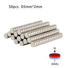 Disque magnétique fort 5mm x 2mm   Vente en gros, aimants de qualité supérieure, Super 50 pièces N50 terre ronde néodyme Rare