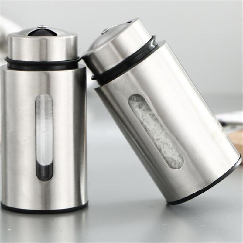 Stainless Steel Seasoning Spice Box Tea Coffee Storage Container Jar Mini Seasoning box seasoning tank seasoning salt shaker