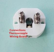 Plaque de câblage Thermocouple 2 colonnes pt-rh, platine rhodium bornier céramique borne Thermocouple liaison post thermocouple