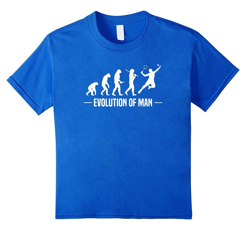 Evolución del hombre Camiseta divertida camiseta de bádmintoner Camiseta de manga para hombre nueva moda para hombre Camiseta de manga corta de algodón