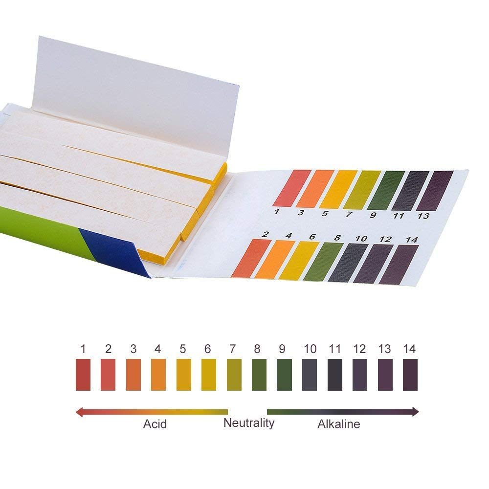 80 tiras/Paquete de tiras de prueba de PH controlador de PH completo medidor de PH 1-14st indicador Tornasol probador de papel Kit de limpieza de agua de fábrica