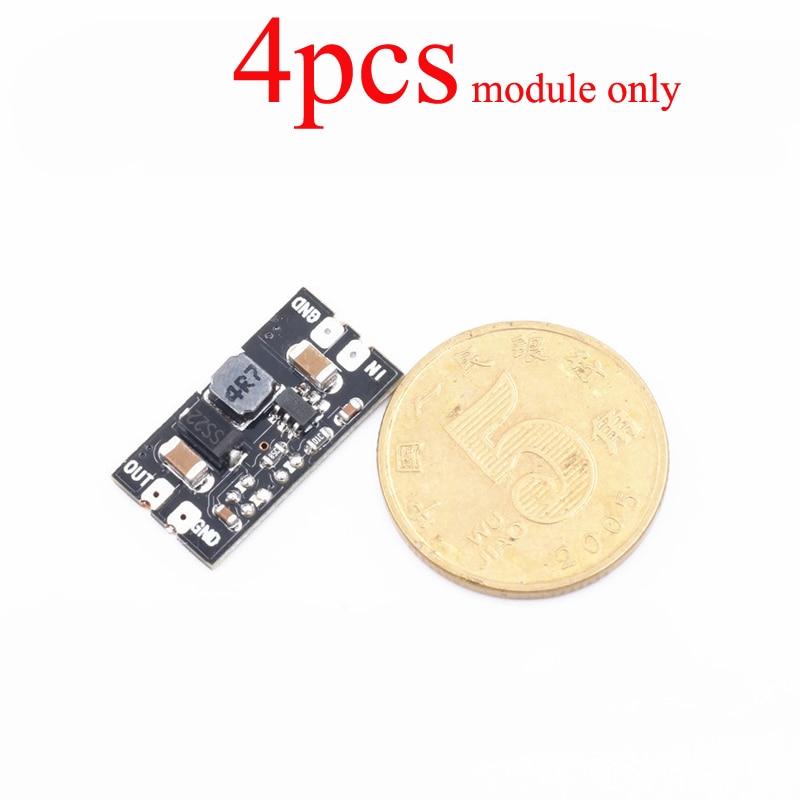 4 pièces DC-DC Module de suralimentation Boost puissance entrée 2.2 V-5 V à 5V 2A amplification s pour 1S Lipo batterie RC FPV