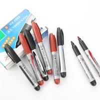 1pc large capacity black red plastic oily waterproof permanent marker pen office school supplies markers