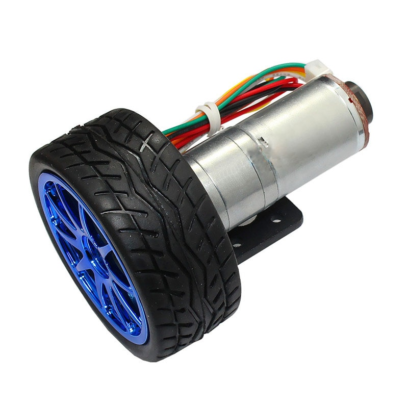 Smart car combination, JGA25-371 gear motor, 25MM encoder motor, wheel, fixing frame, coupling