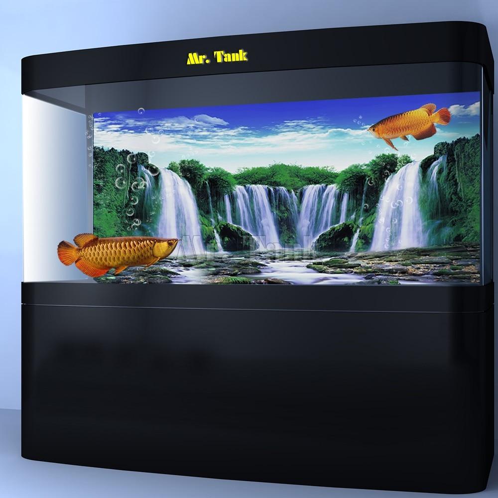Mr.Tank HD, póster de fondo para acuario, efecto 3D, cascada, vista de bosque, casa de reptiles, pared, tanque de peces, decoraciones de fondo