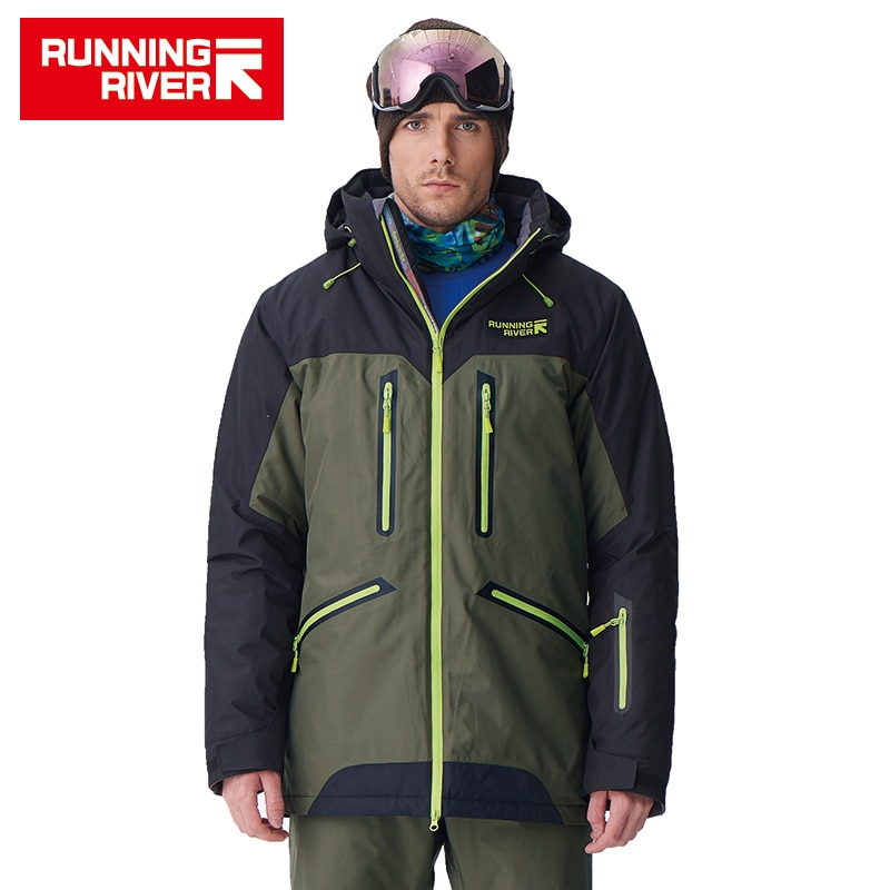 RUNNING RIVER Brand High Quality Men Winter snowboard Jacket 4 Colors 6 Sizes Warm Sport Outdoor Clothing For Man Jackets #A7009