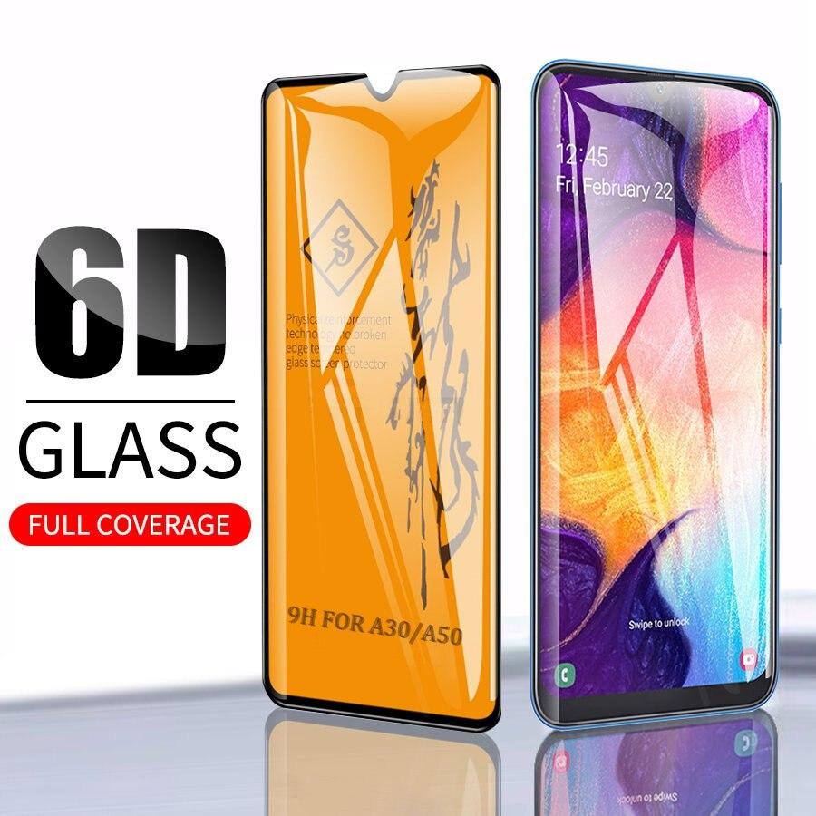 Vidrio Templado 6D para Samsung Galaxy A50 A30 A40 A60 A70 A80 A90 película protectora de pantalla completa para Samsung M20 M30 Glass