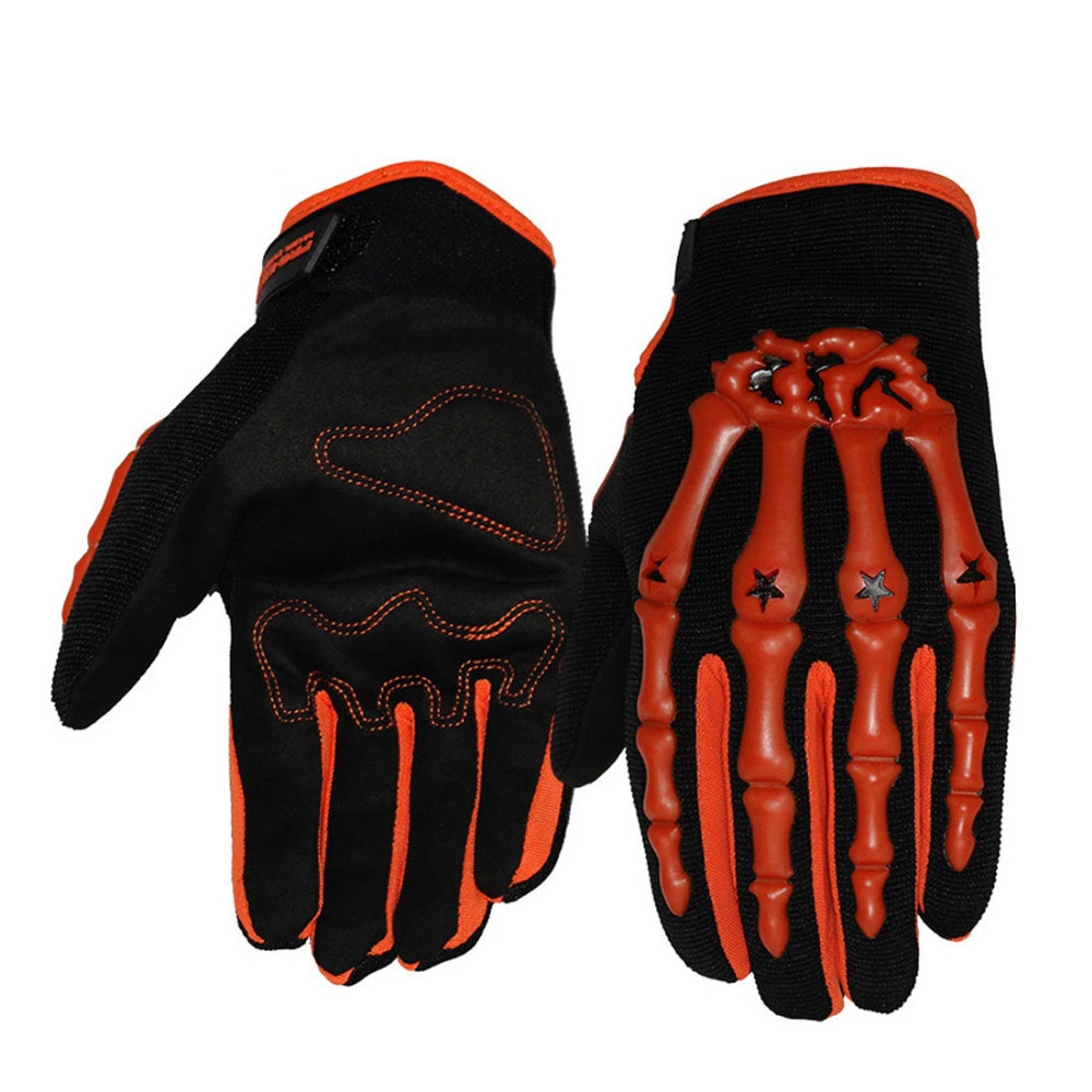 Pro-biker full finger skeleton motorcycles protective gloves pro biker gloves motocross dirt bike mtb cycling downhill black  XL enlarge