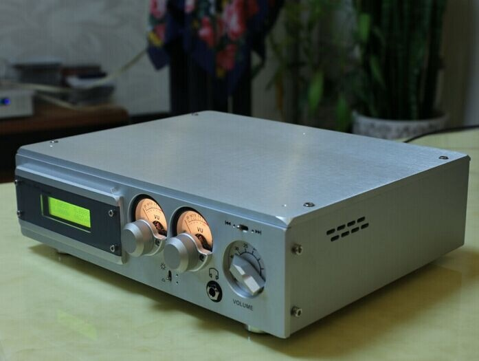 3208n estilo suíça chassi amplificador de alumínio completo com medidor nível duplo para fone ouvido amp/dac novo