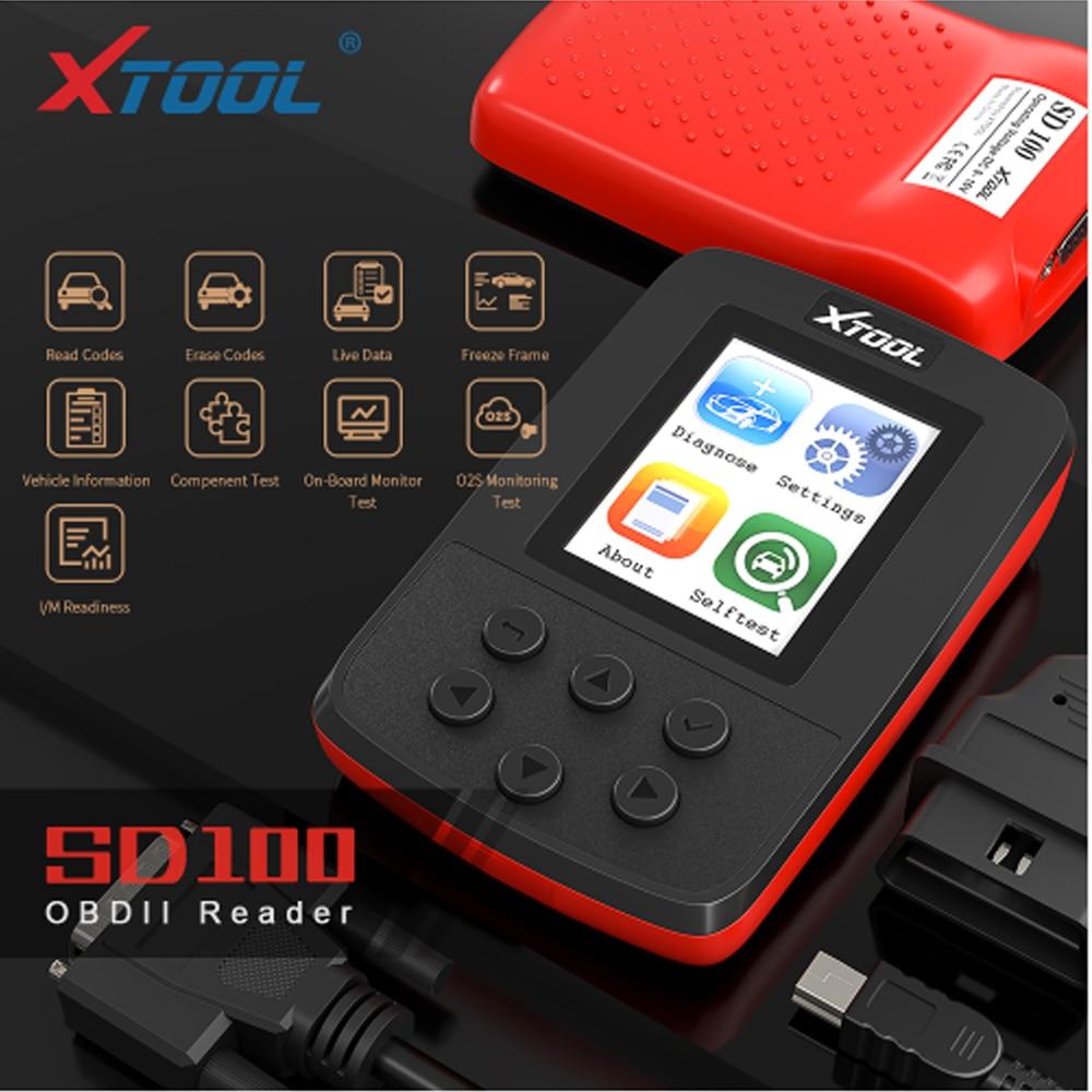 OBD2 accesorios de coche XTOOL SD100 OBD2 lector de código herramientas de escaneo SD100 herramientas de diagnóstico mejor que ELM327 VS890 CR3001 CR319