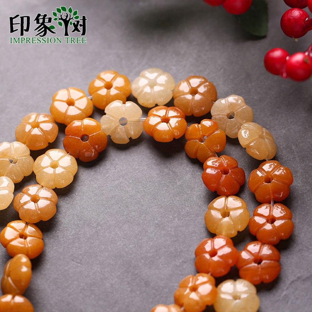 5 unids/lote 14mm pulido puro Natural gema diferir Jade Amarillo e piedra flor colgante 3D pétalos Carven encantos piezas de joyería 18095