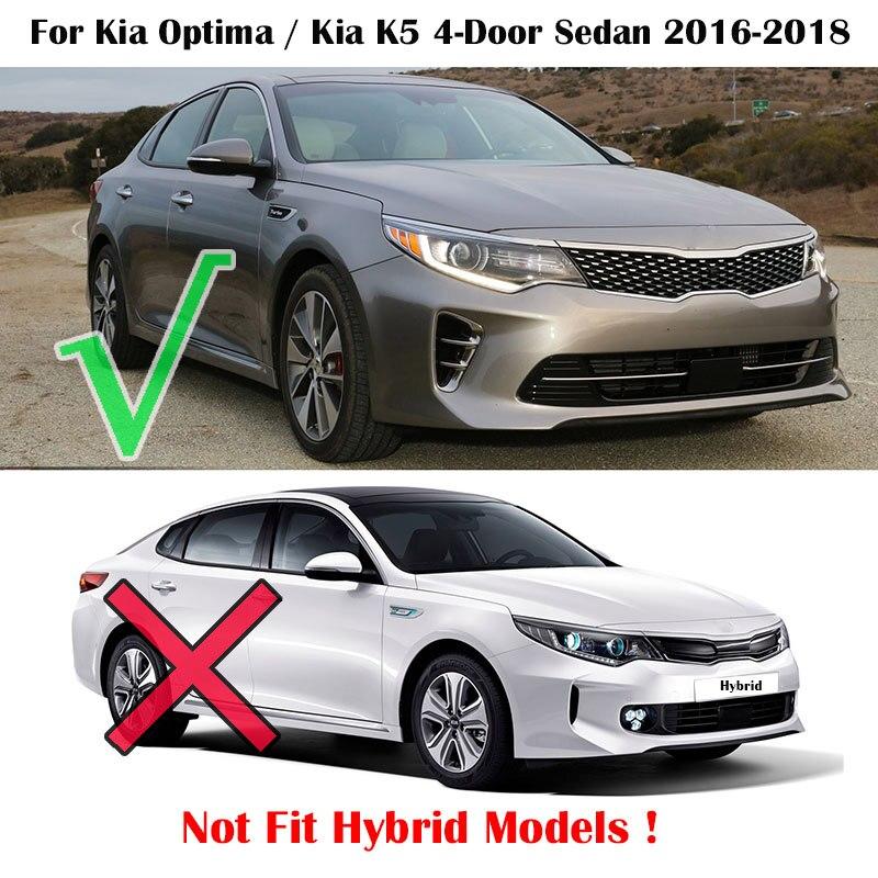 For Kia Optima K5 JF 2016 2017 2018 Front Rear Molded Car Mud Flaps Mudflaps Splash Guards Mud Flap Mudguards Fender Styling