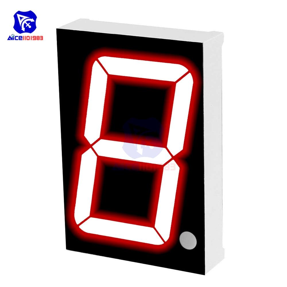 "Diymore led módulo comum cátodo 10 pinos 1 bit 7 segmento 2.2x1.5x0.43 Polegada 1.8 ""display led vermelho tubo digital"