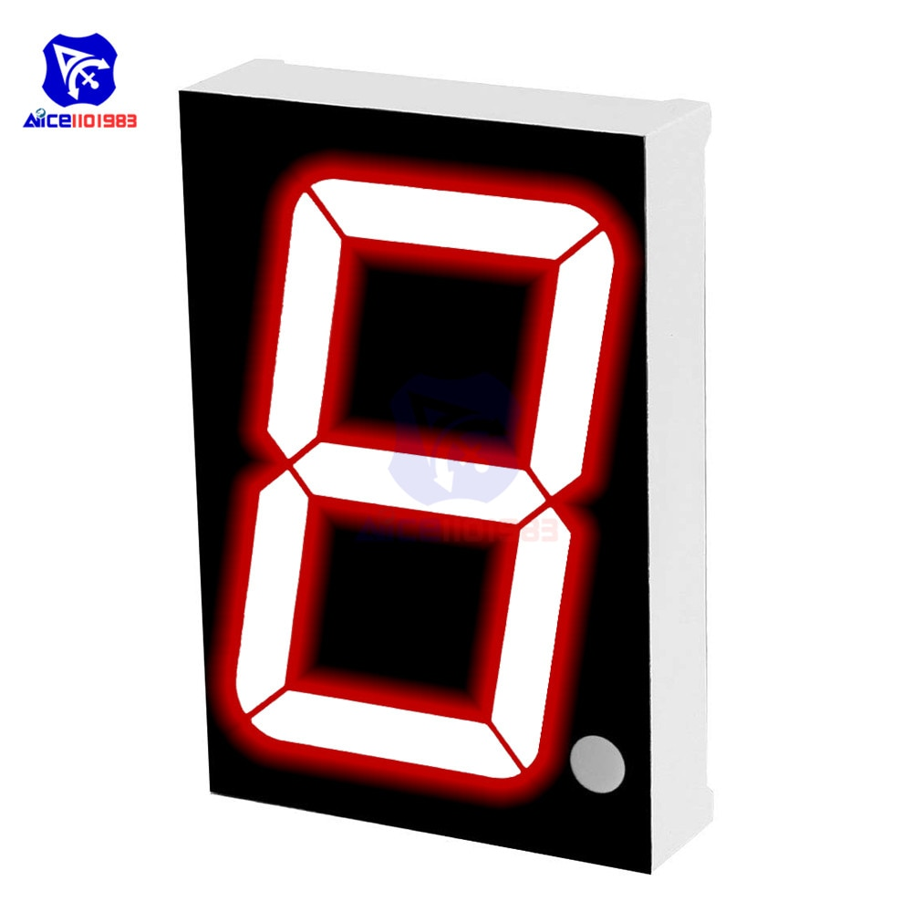 Módulo LED diymore cátodo común 10 pines 1 Bit 7 segmentos 2,2x1,5x0,43 pulgadas 1,8 pulgadas tubo Digital de pantalla LED roja