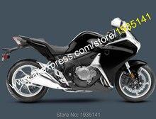 Para Honda VFR1200 2010 2011 2012 2013 VFR 1200 10 11 12 13 carenado negro de la motocicleta del mercado de accesorios (moldeo por inyección)