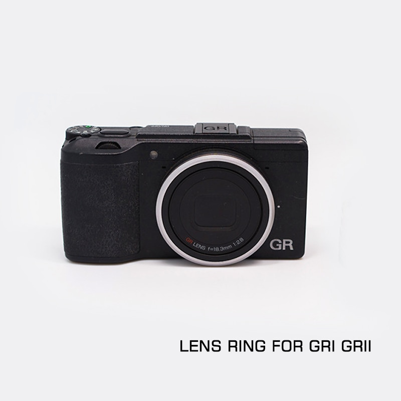 Металлическое Оригинальное Серебряное кольцо для объектива подходит для Ricoh GR /GR II/GR2 Camera LIMITED EDITION