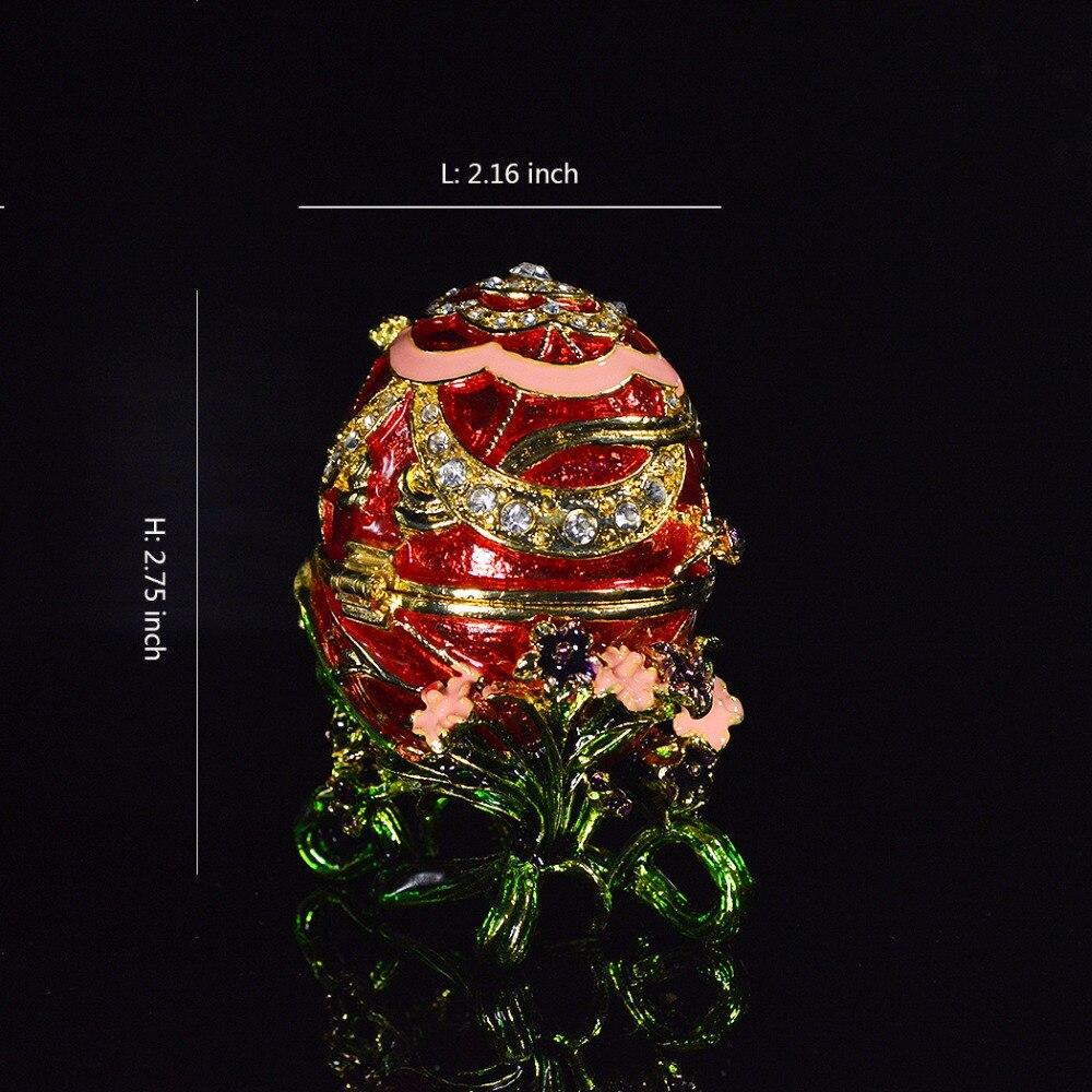 QIFU Neue Rot Faberge Ei Schmuckstück Box für Home Decor Geschenke