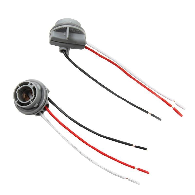2 piezas 1157 soporte de bombilla de coche adaptador de enchufe conector de cableado de luz LED