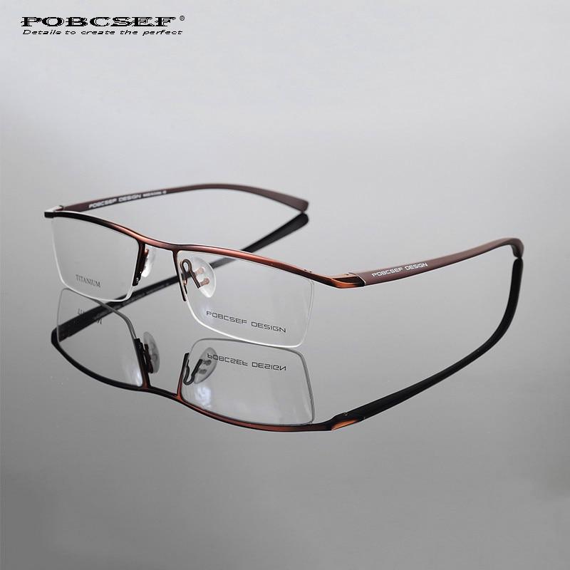 إطار النظارات التيتانيوم للرجال ، TR90 oculos de grau ، الكمبيوتر ، قصر النظر ، nerd TH8218 ، الأعمال ، نصف إطار