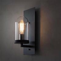 Loft Personality Retro Wall Lamp Industrial Creative Nostalgic Art Glass Wall Lamp Aisle Bathroom Wall Sconce Free Shipping