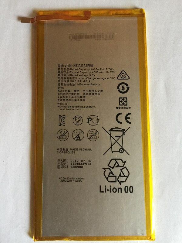 100% Neue Original 4800mAh HB3080G1EBW Für Huawei MediaPad T1 10 Pro/T1-A21/T1-A21W/T1-A21L/T1-A22L /T1-A23L Batterie