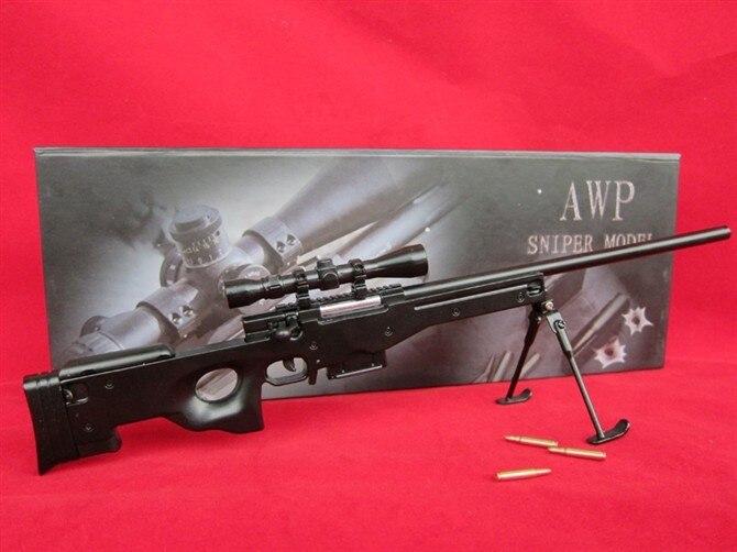 14 fałszywy pistolet imitacja pistoletu Metal AWP karabin snajperski zabawka karabin model