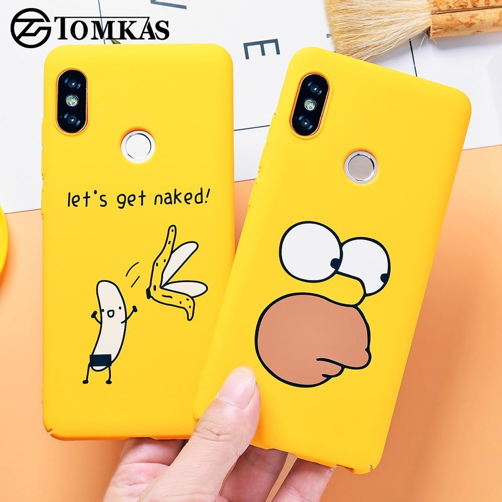 Funda TOMKAS bonita de dibujos animados para teléfono Xiaomi Redmi Note 5 carcasa para xiaomi redmi 4x 5 Plus funda trasera mi A1 divertida Banana desnuda