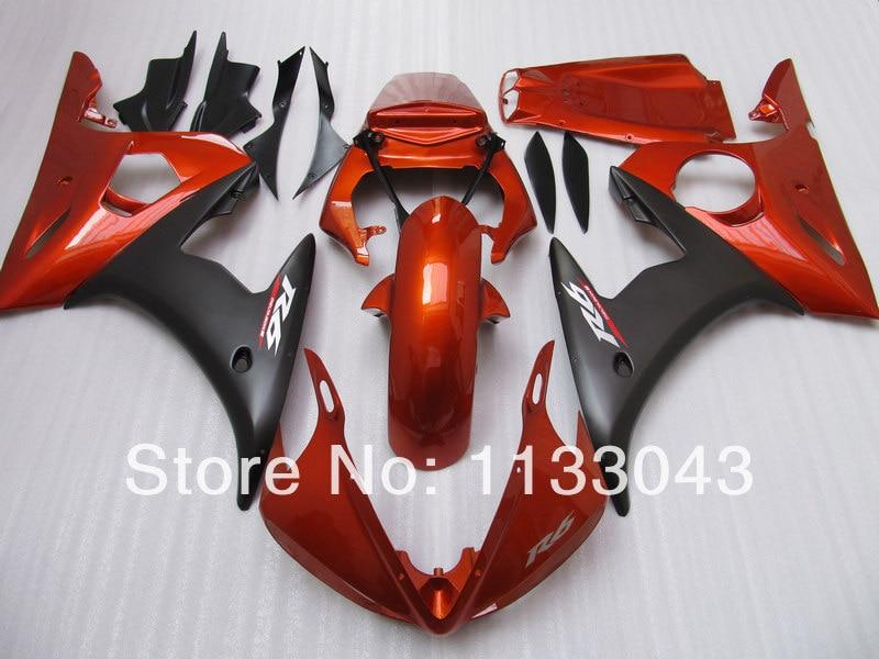 7 Gifts+ Red black fairings for Yamaha YZF-R6 2003 2004 2005 YZF R6 YZF 600 R6 03 04 05 2003-2005 fairing set #YA22