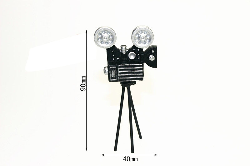G05-X4562 juguete de regalo para niños y bebés 112 casa de muñecas mini muebles miniatura rement Mini proyector Retro 1 Uds