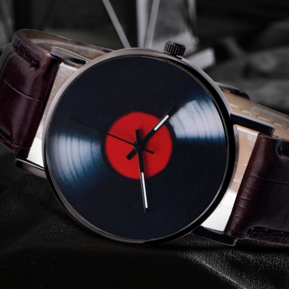 ModaCasuaisUnisex Retro Projeto Banda Liga Analógico de Quartzo relógio de Pulso decoração Do Partido Negócio das Vigias Relógio gif para m