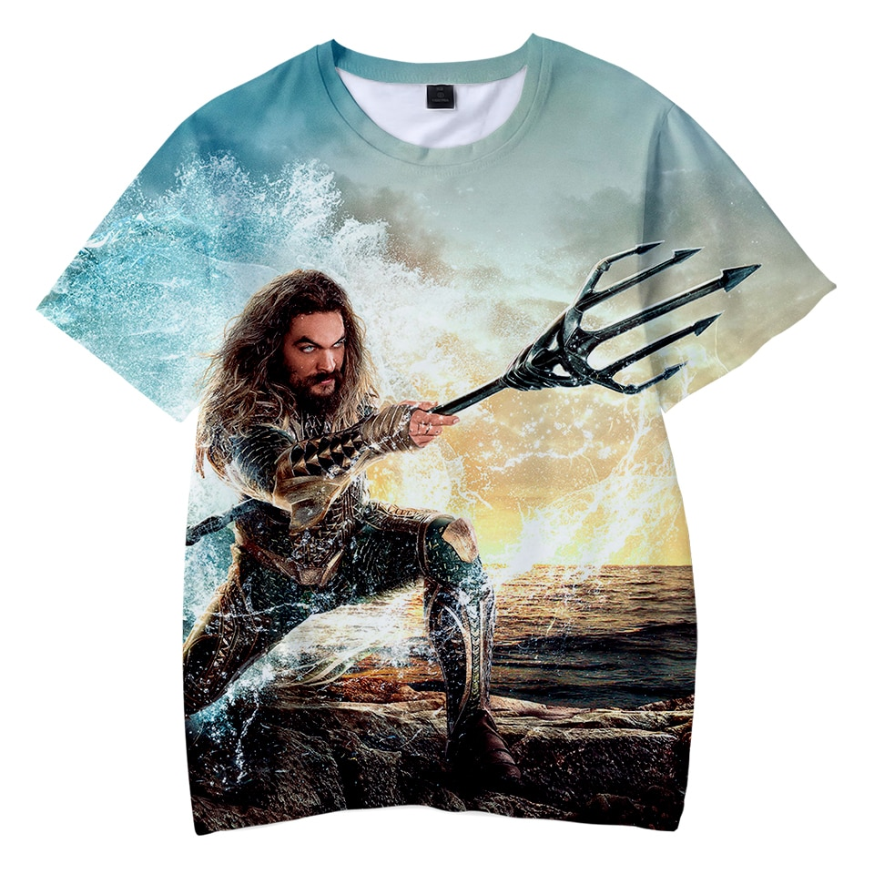 Aquaman 3D impreso niños verano Camisetas manga corta moda camisetas 2018 gran oferta Casual Streetwear camisetas niños