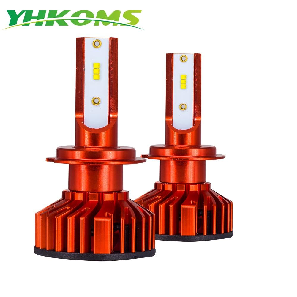 YHKOMS Mini H7 LED Canbus H4 linterna del coche de H1 H3 H8 H9 H11 9005 HB3 9006 HB4 880 881 H27 Lampada luces de niebla bombillas para coche 12V 12V