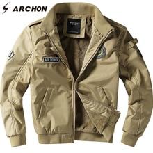 S.ARCHON hiver chaud veste tactique manteau hommes coupe-vent Bomber Air Force veste militaire décontracté moto armée polaire vestes