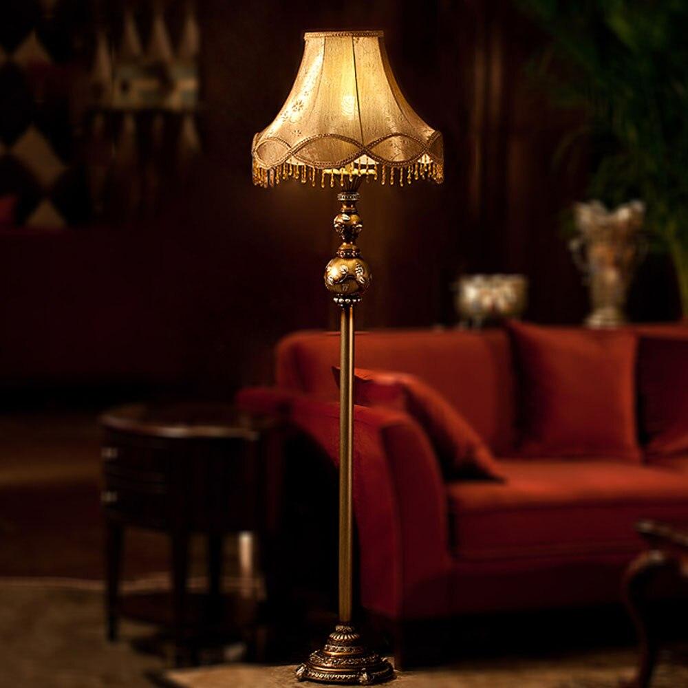 Bombilla de estilo europeo E27, lámparas de pie Led 110 V-220 V, Luz de suelo moderno de resina para sala de estar, diseño de dormitorio lujoso