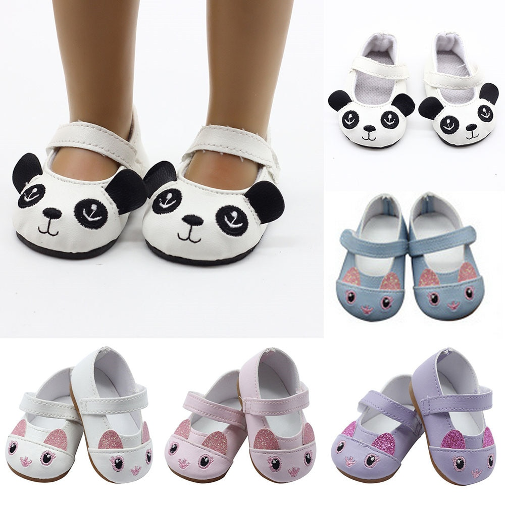 18 inch American Doll Shoes Mini Toy Shoes for 43cm Cute Born Baby Doll 1 Pairs Shoes Doll Accessories недорого