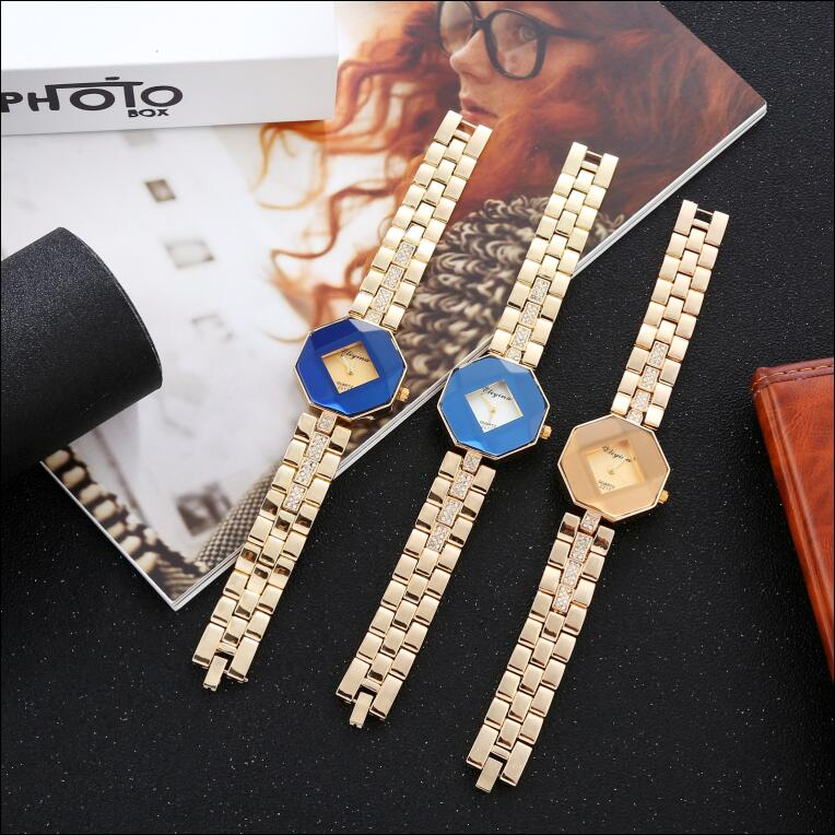 Ladies luxury with diamond alloy quartz watch retro gold fashion  ladies watch luxury brand  diamond watch enlarge