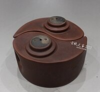 Antique Yixing purple sand Bagua pot