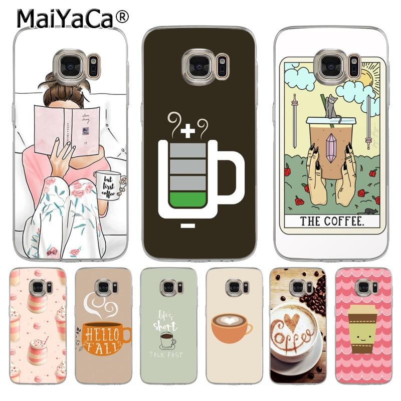 MaiYaCa Relax café lectura de alta calidad clásico teléfono funda para Samsung galaxy s9 plus s7 edge s6 edge plus s5 s8 plus funda