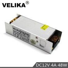 Mini Size DC12V Power Supply Switch 4A 48W Led Lighting Driver Transformer AC100-240V to dc 12v for Led Strip Light Lamp CCTV