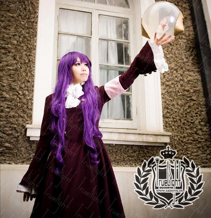 Tsubasa Reservoir Chronicle Princesa Tomoyo Cosplay Red Gothic Lolita Vestido Outfit Hat + Vestido + Saia